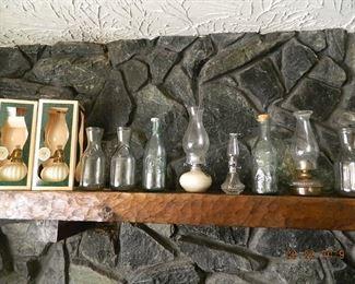 oil lamps/bottles