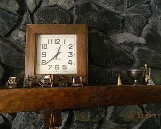 clock/metal decor
