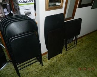 chairs and tv trays