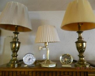 lamps and clocks