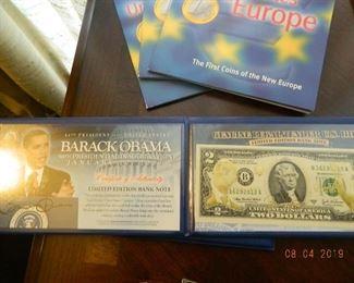 Omama 2 dollar bills