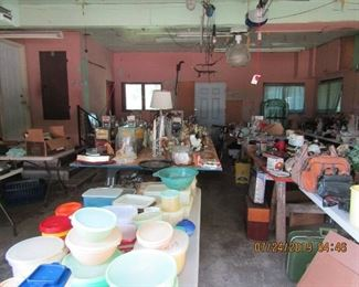 Collectible and assorted household goods.