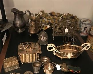 antique brass pieces---some vintage
