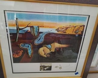 Salvador Dali - Persistance de la Memoire lithograph hand signed by Dali. We have several documents for your review of the authenticity of this piece. #E28/150 edition. Several appraisals by noted authorties of Dali Works.