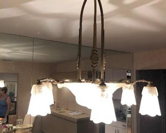 French Art Deco Dinning Room Fixture