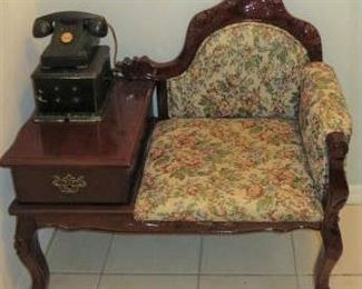 Victorian Telephone Table Chair