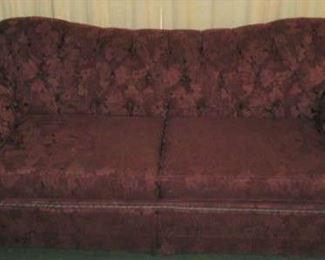 Burgundy Grape Design Sofa
