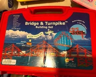 Bridge and Turnpike building set (this is for GIRLS TOO)