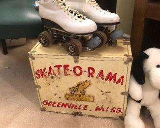 more wheels -- vintage roller skates!