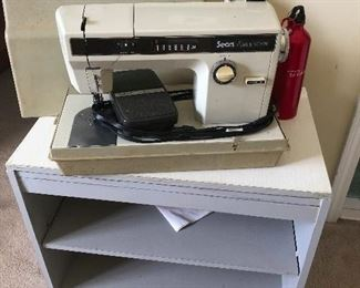 sewing machine for when civil order collapses and you need to prove your worth to a protective  colony by having a real craft