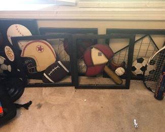 helmets and man-cave stuff