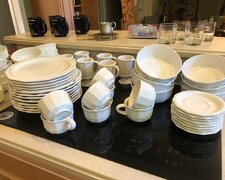 pure cream colored dinnerware set