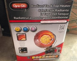 Dyna-Glo radiant Tank Top Heater -- I think you could hold up a liquor store with this thing