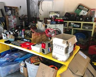 garage shot. This sale is CRAY! So much stuff. I think it broke Cheryl. She's inside under a table with snarly hair swatting at imaginary insects right now.