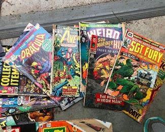 lots of vintage comic books