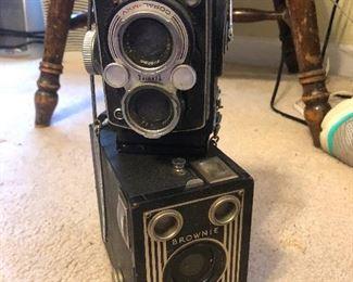 Two vintage magazine cameras