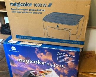Konica Minolta Magicolor 1600W and 2430 DL professional photo printers.  more printers you need this!