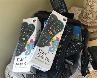 What's with all these remotes? Tivo Slide Pro remotes
