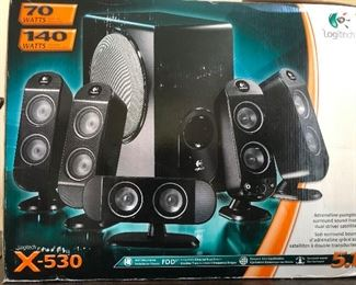 Lots of speakers Logitech X-530 speaker system