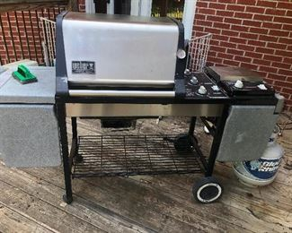 Grill! You can cook up all that squirrel you shot with the crossbow you bought earlier!