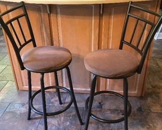 barstools for sipping martinis and tossing back your head in laughter at clever conversation