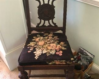 antique chair for sitting in with perfect posture