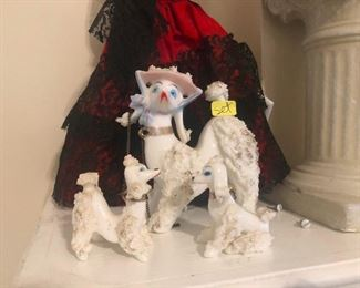 """these vintage ceramic poodles win the estate sale """"coolest things"""" contest"""