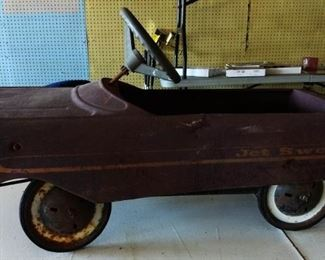 "Vintage ""Jet Sweep"" Pedal Car"