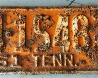 1951 Tennessee License Plate (National Champions)