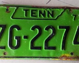 1973 Tennessee License Plate