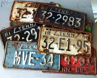 Box Lot- Vintage Tennessee Licenses Plates