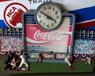Coca-Cola Baseball Display Clock