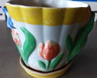 Vintage Floral Bowl (Nagoya, Japan)