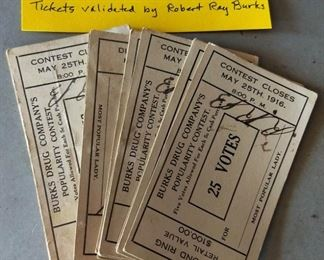 1916 Contest Tickets (Livingston, TN)