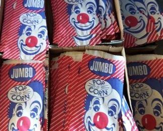Vintage Popcorn Bags, NOS