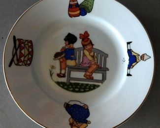 Vintage Bavarian Child's Plate