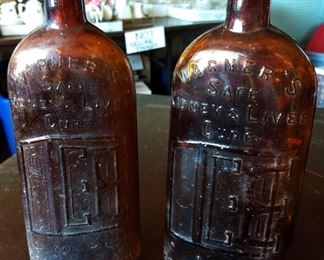 Antique Warner's Safe Kidney & Liver Cure Bottles
