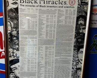 """Black Miracles"" Poster, Framed"