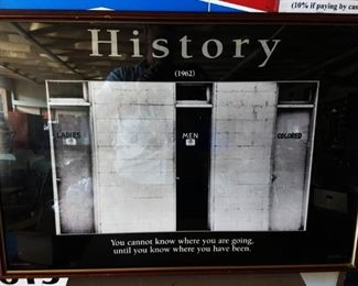 "1962 Public Bathroom ""History"" Poster, Framed"