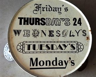 Vintage Metal Tambourine