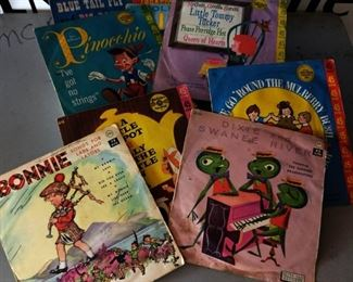 Box Lot- Vintage Child's 45 Records