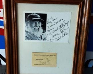 Autographed Picture- Denver Pyle
