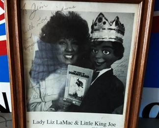 Autographed Picture- Lady Liz Mac & Little King Joe