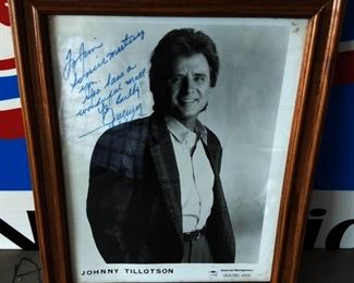 Autographed Picture- Johnny Tillotson