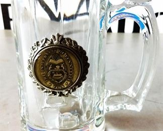 Vintage Glass Mug with University of Tennessee Medallion