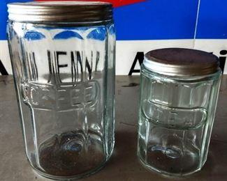 Vintage Glass Tea/Coffee Jars