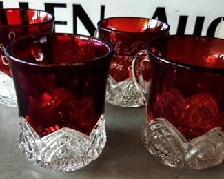Antique Ruby-stained Glassware