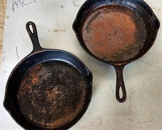Vintage Cast Iron Skillets