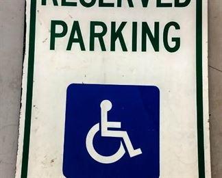 """Reserved Parking"" Metal Sign"