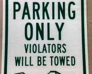 """Resident Parking Only"" Metal Sign"